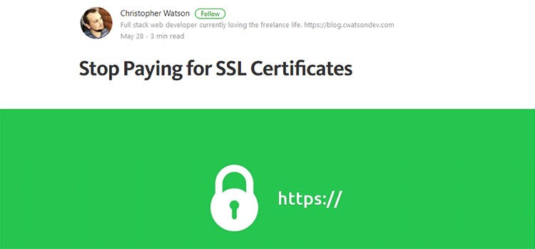 Stop Paying for SSL Certificates