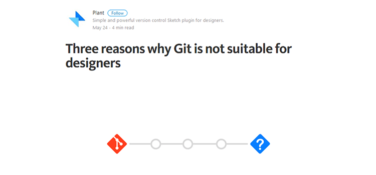 Three reasons why Git is not suitable for designers
