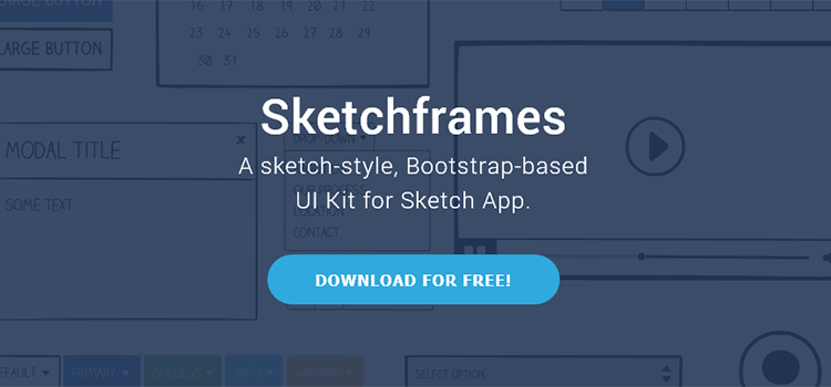 50 free wireframe templates for mobile web and ux design sketchframes boostrap ui kit sketch malvernweather Choice Image