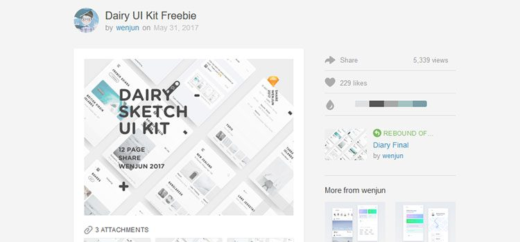 Dairy UI Kit Freebie