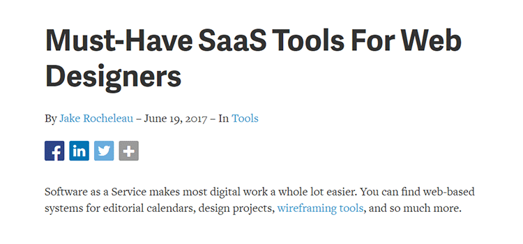 Must-Have SaaS Tools For Web Designers