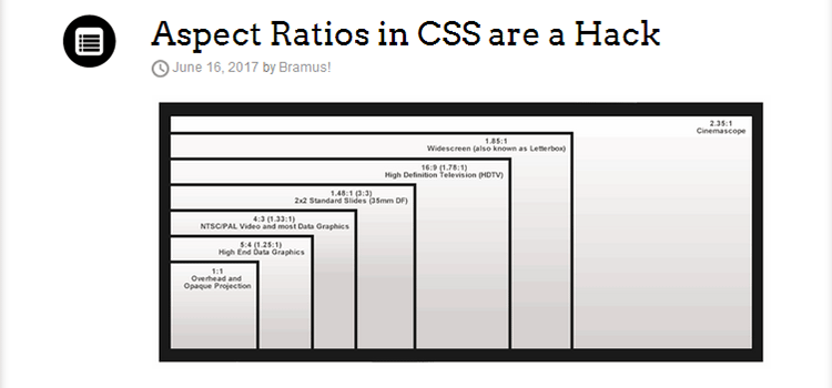 Aspect Ratios in CSS are a Hack