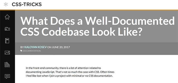 What Does a Well-Documented CSS Codebase Look Like?