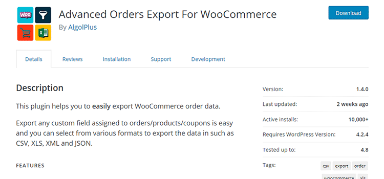 Advanced Orders Export for WooCommerce