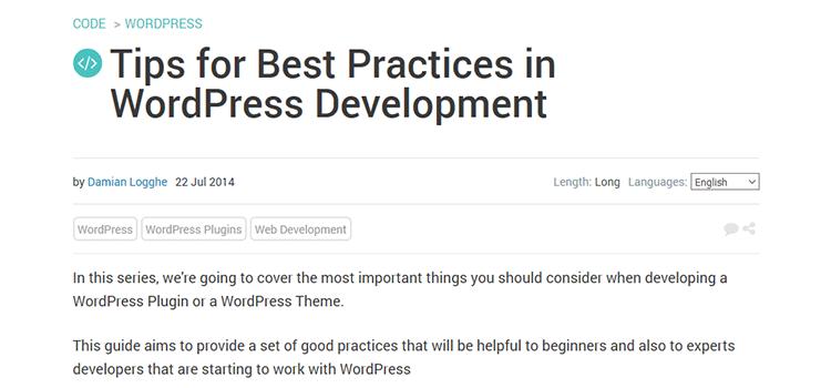 Tips for Best Practices in WordPress Development