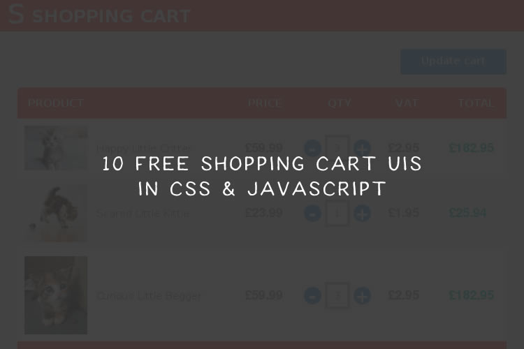 10 Free Shopping Cart UIs in CSS and JavaScript