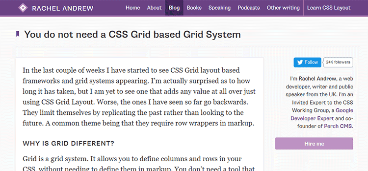 You do not need a CSS Grid based Grid System
