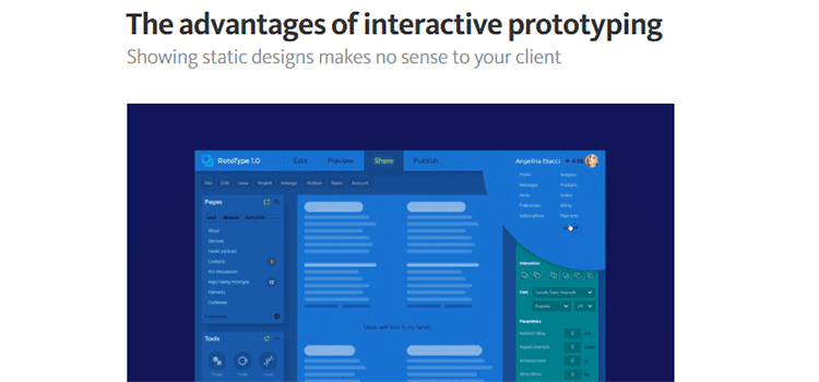 The advantages of interactive prototyping
