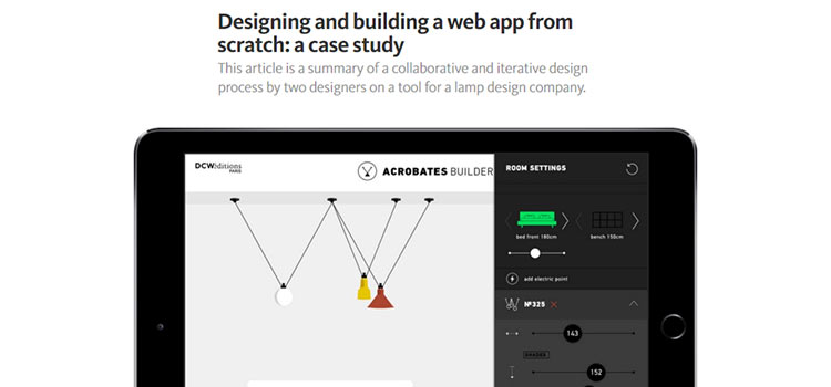 Designing and building a web app from scratch: a case study