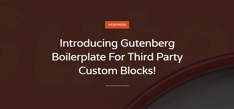 Gutenberg Boilerplate