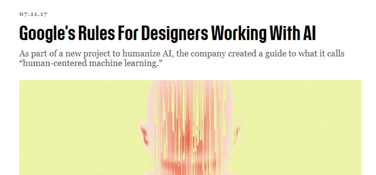 Google's Rules For Designers Working With AI