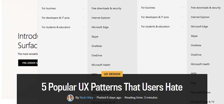 5 Popular UX Patterns That Users Hate