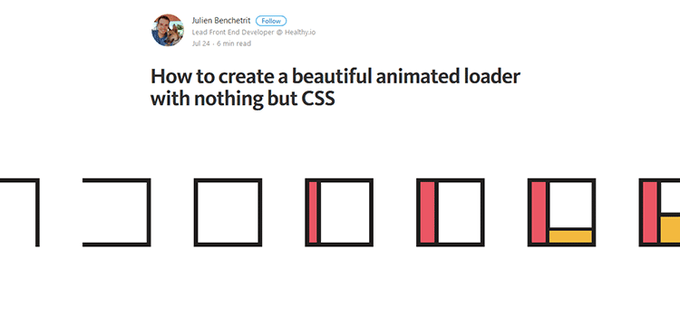 How to create a beautiful animated loader with nothing but CSS