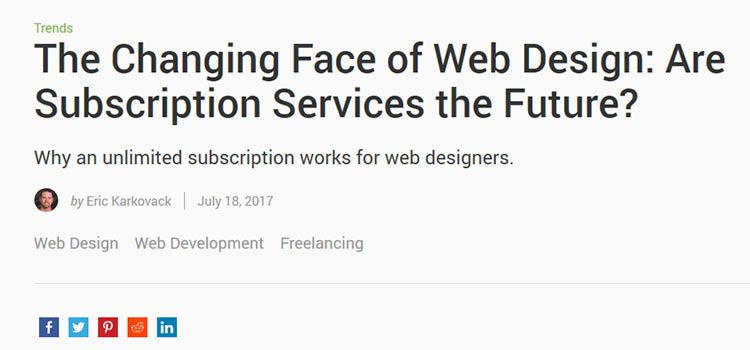 The Changing Face of Web Design: Are Subscription Services the Future?