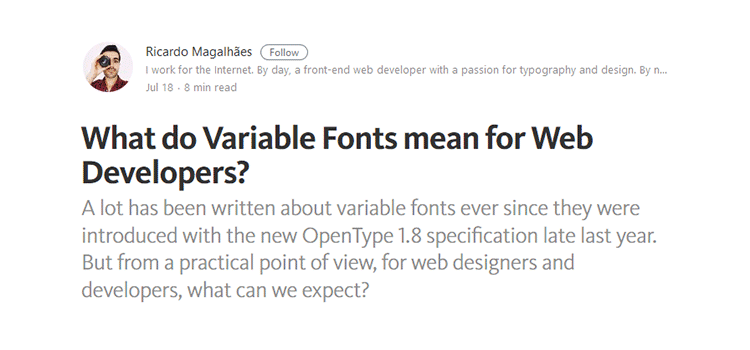 What do Variable Fonts mean for Web Developers?