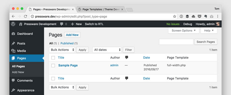 how to find wordpress admin page