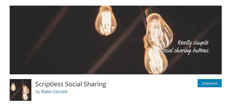 Scriptless Social Sharing