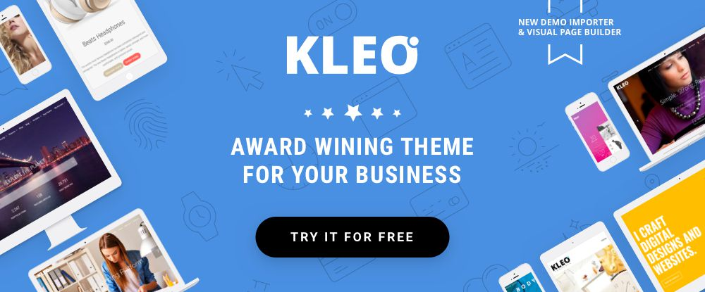KLEO - Ready to GO Theme for Your Business