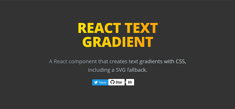 React Text Gradient