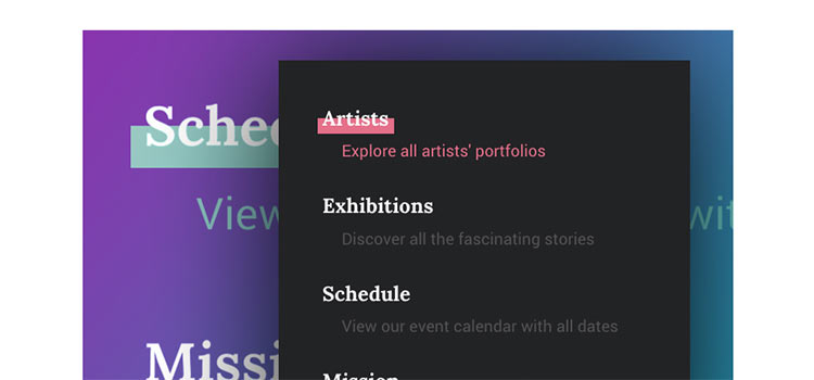 Inspiration for Menu Hover Effects
