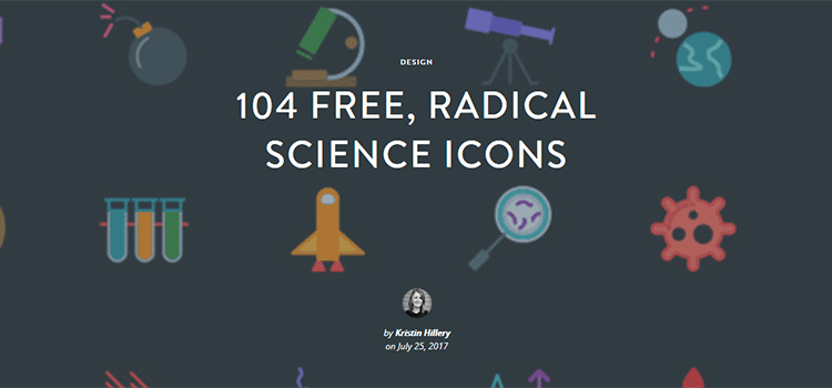 104 free, radical science icons