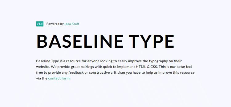 Baseline Type