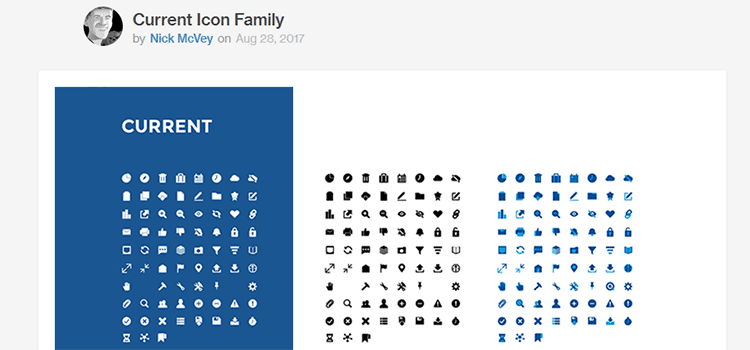 Current Icon Family