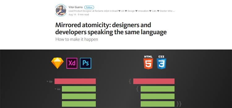 Mirrored atomicity: designers and developers speaking the same language