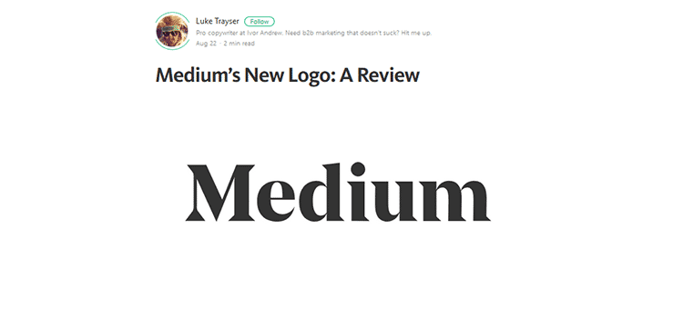 Medium's New Logo: A Review