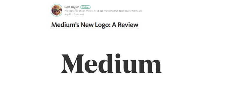 Medium's New Logo: A Review