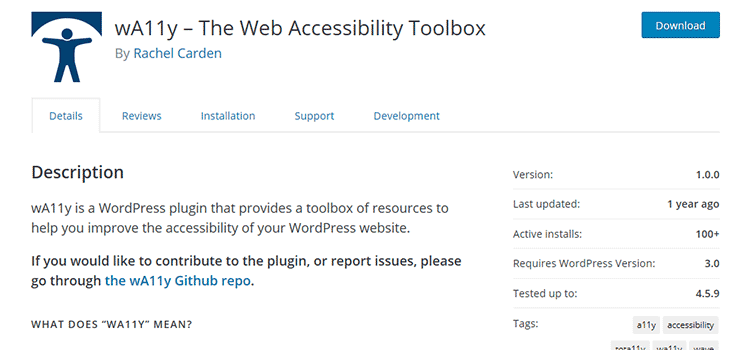 wA11y – The Web Accessibility Toolbox