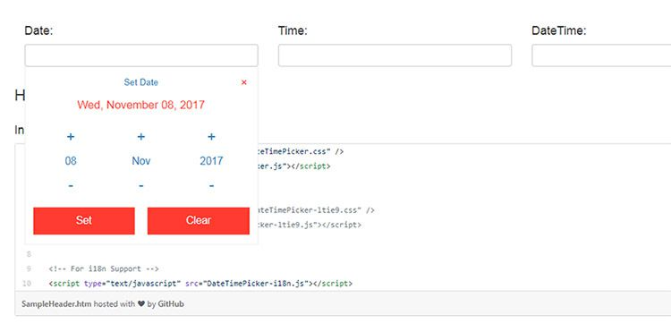 datetime picker plugin