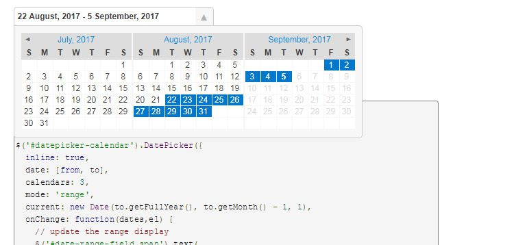 datepicker plugin