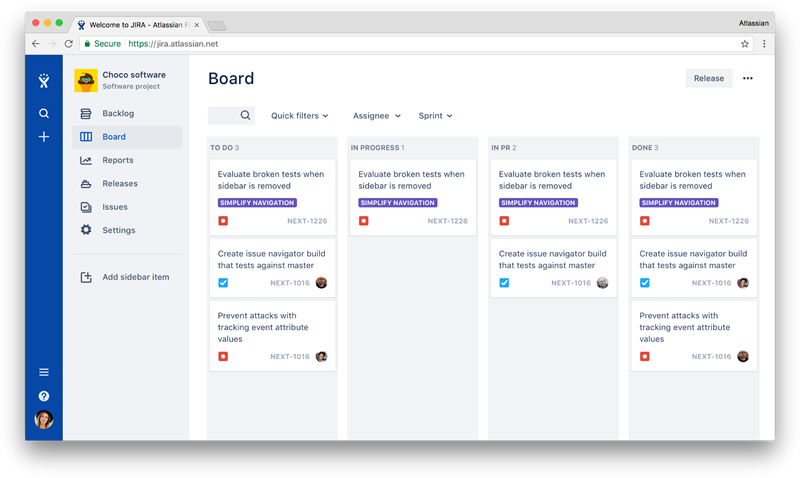 JIRA using ADG 3.0 latest version of the design system