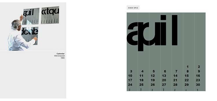 Wim Crouwel's Calendar (CSS Grid)