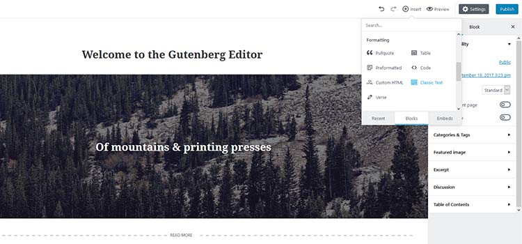 As Gutenberg Evolves...
