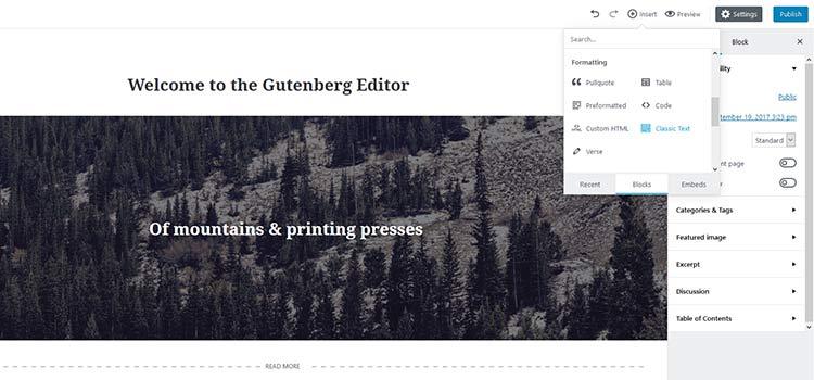 As Gutenberg Evolves...