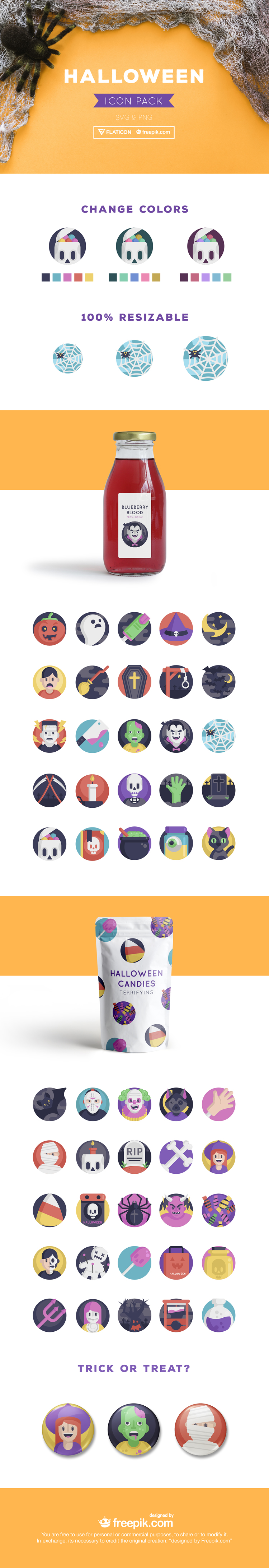Free Halloween Icon Pack Preview png svg illustrator