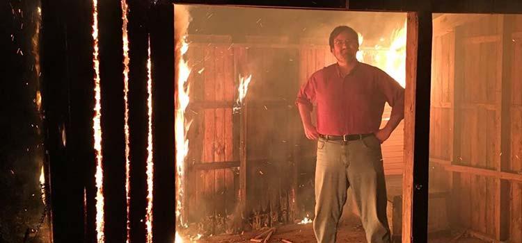 Greg Schoppe is in the fire.