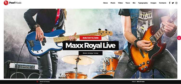 Pearl Music Demo Site