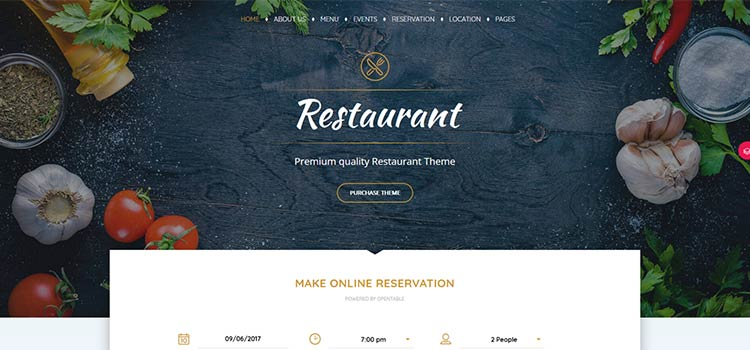 Pearl Restaurant Demo Site