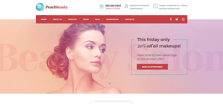 Pearl Beauty Demo Site