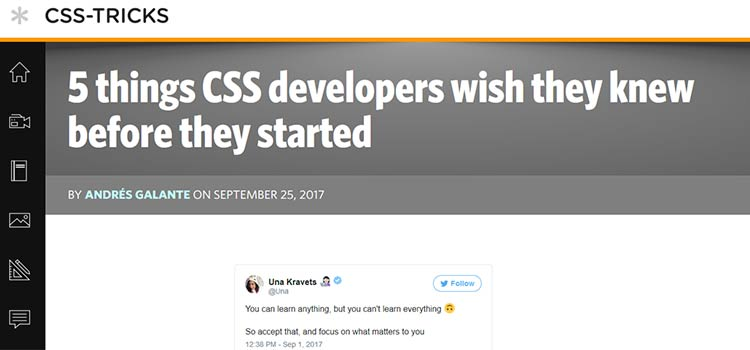 5 things CSS developers wish they knew before they started