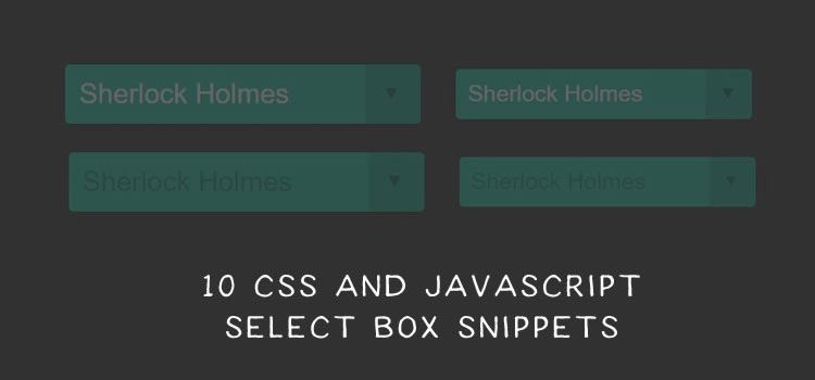 10 Free Open Source CSS and JavaScript Select Box Snippets