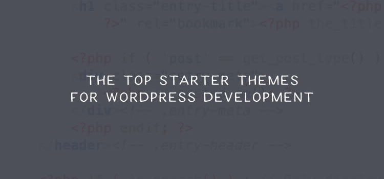 The Top Starter Themes for WordPress Development