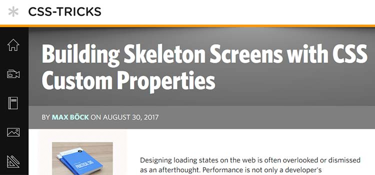 Building Skeleton Screens with CSS Custom Properties