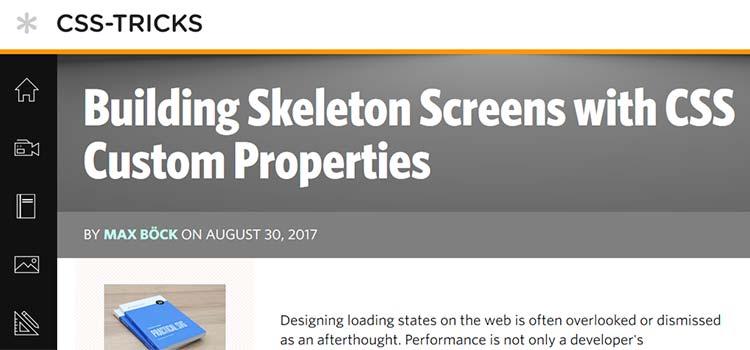 Building Skeleton Screens with CSS Custom Properties