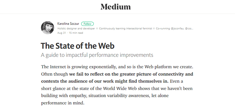 The State of the Web