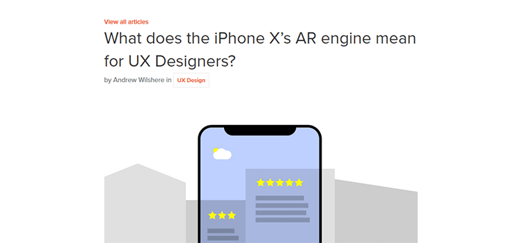 What does the iPhone X's AR engine mean for UX Designers?