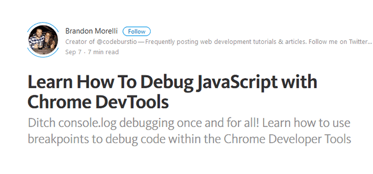 Learn How To Debug JavaScript with Chrome DevTools